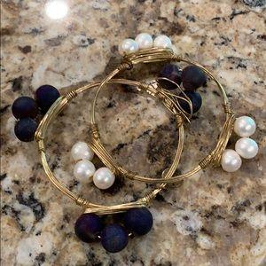 Set of 2 Bourbon & Bowties bracelets